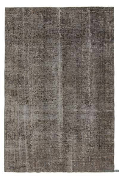 Grey Over-dyed Turkish Vintage Rug - 6'3'' x 9'10'' (75 in. x 118 in.)