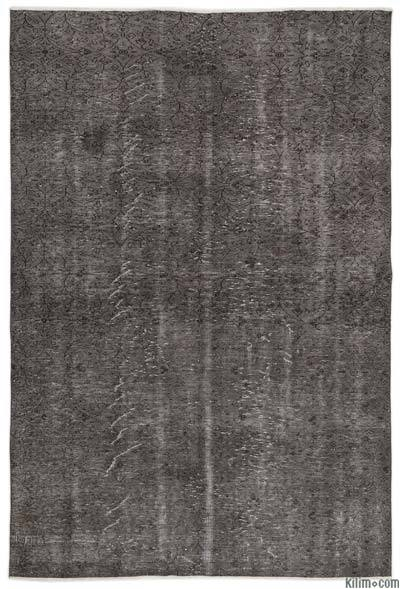 Over-dyed Turkish Vintage Rug - 6'1'' x 9'2'' (73 in. x 110 in.)