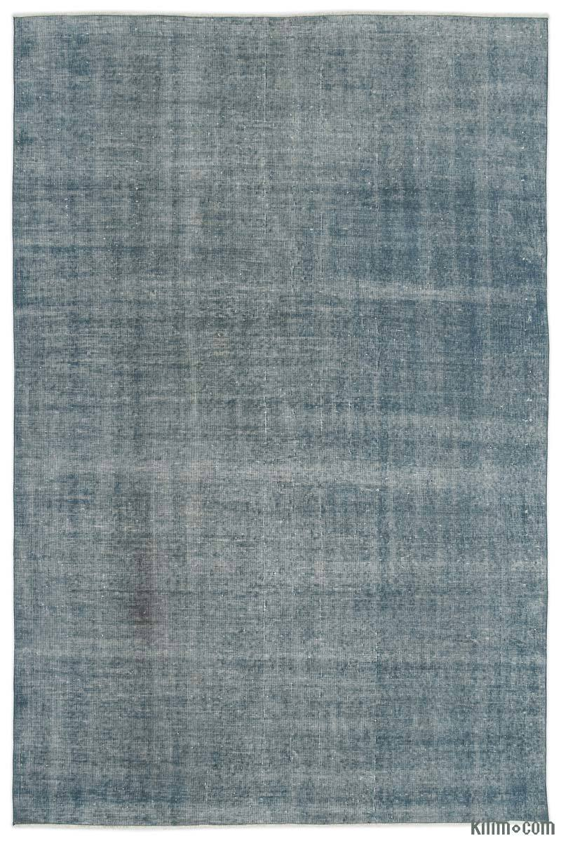 K0017713 Light Blue Over Dyed Turkish Vintage Rug 6 7 Quot X