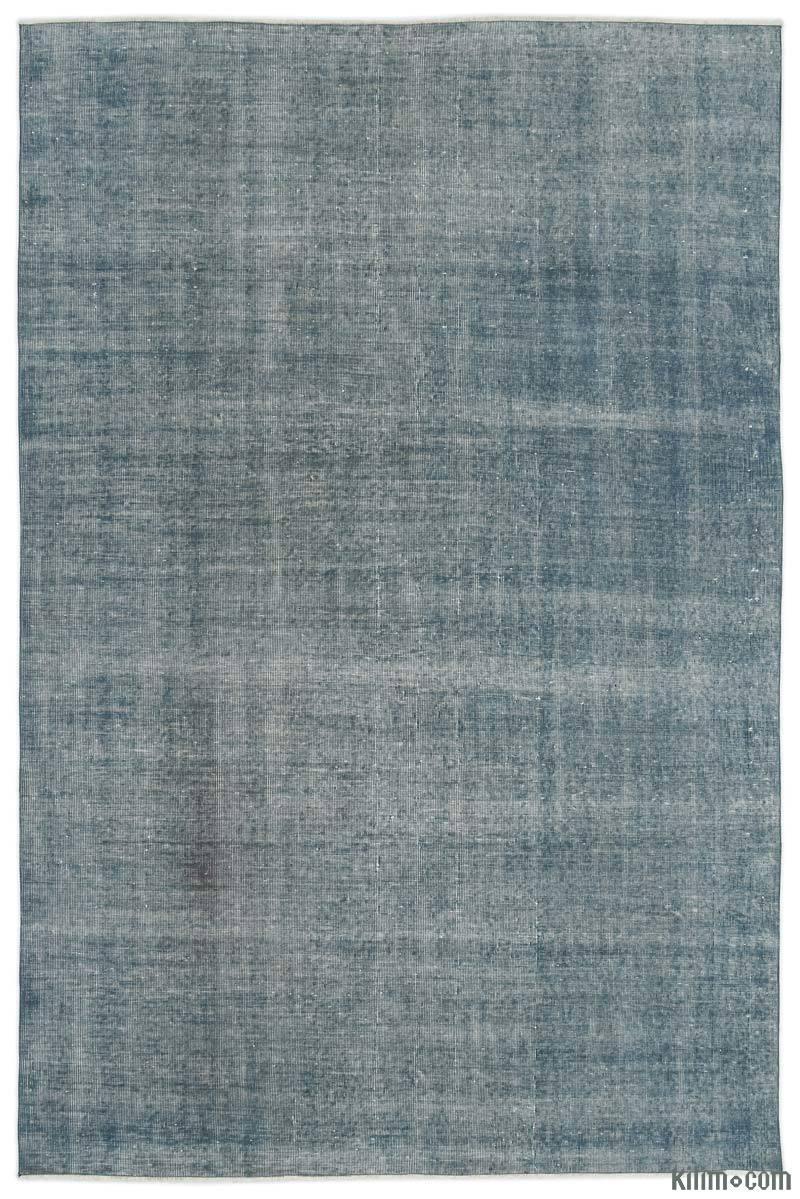 K0017713 Light Blue Over Dyed Turkish Vintage Rug 6 7 Quot X