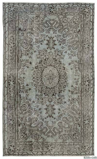 "Over-dyed Turkish Vintage Rug - 5'4"" x 8'7"" (64 in. x 103 in.)"