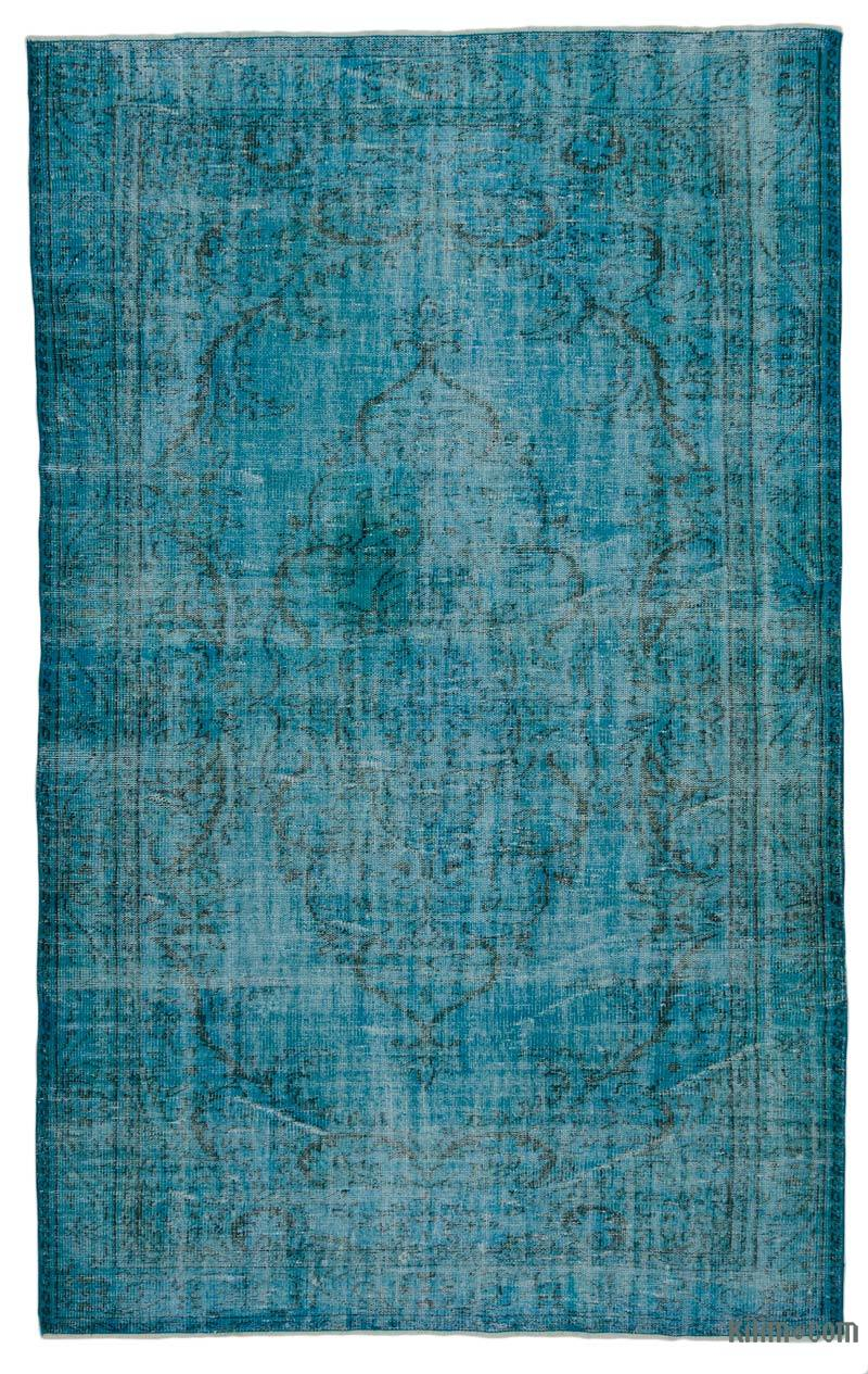 K0017826 Turquoise Over Dyed Turkish Vintage Rug 5 10