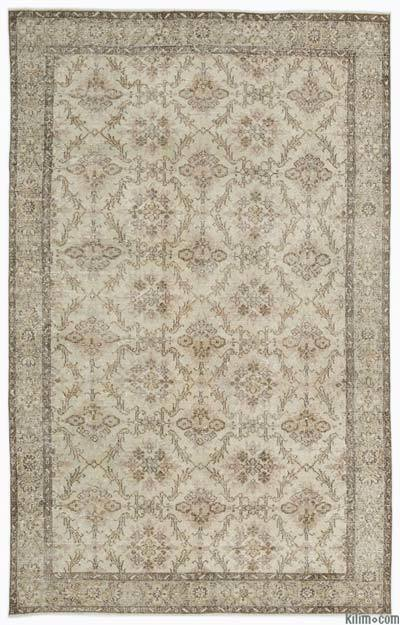 "Over-dyed Turkish Vintage Rug - 6'4"" x 9'8"" (76 in. x 116 in.)"