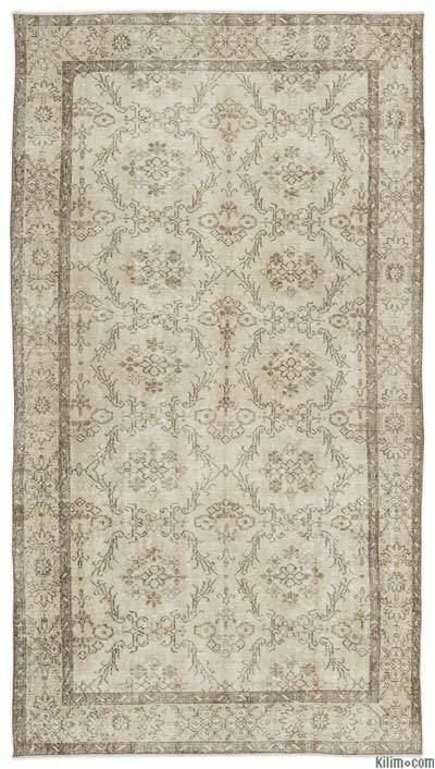 "Over-dyed Turkish Vintage Rug - 4'11"" x 9'2"" (59 in. x 110 in.)"