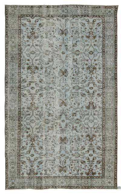 "Over-dyed Turkish Vintage Rug - 5'1"" x 8'6"" (61 in. x 102 in.)"