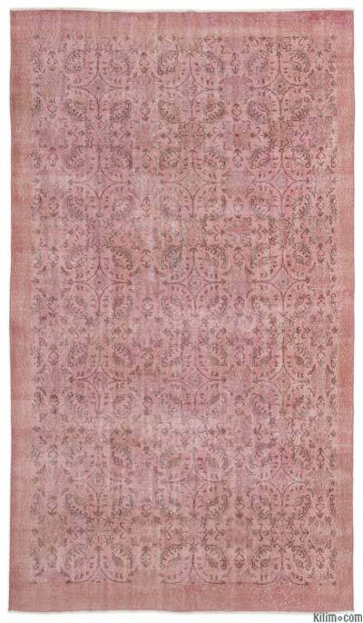 Pink Over-dyed Turkish Vintage Rug - 5'7'' x 9'8'' (67 in. x 116 in.)