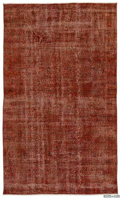 Orange Over-dyed Turkish Vintage Rug - 4'11'' x 8'4'' (59 in. x 100 in.)