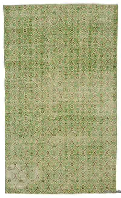 Green Turkish Vintage Rug - 5' x 8'4'' (60 in. x 100 in.)