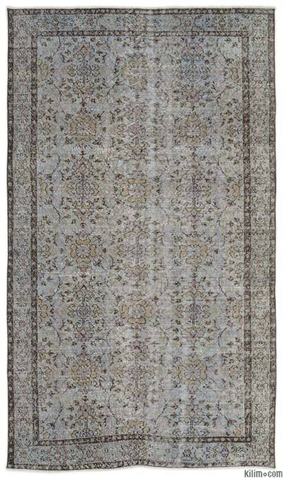 Turkish Vintage Area Rug - 4'9'' x 8'5'' (57 in. x 101 in.)