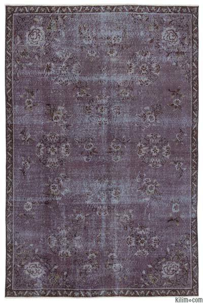 "Over-dyed Turkish Vintage Rug - 5'8"" x 8'6"" (68 in. x 102 in.)"
