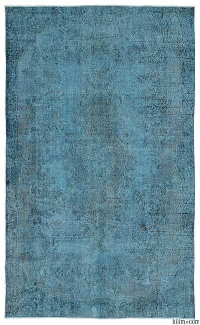 "Over-dyed Turkish Vintage Rug - 5'11"" x 9'5"" (71 in. x 113 in.)"