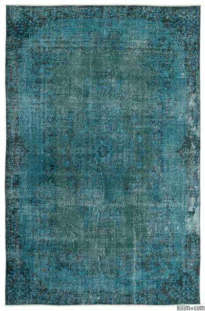 "Over-dyed Turkish Vintage Rug - 5'11"" x 9'3"" (71 in. x 111 in.)"
