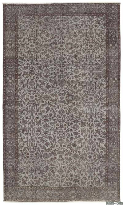 Over-dyed Turkish Vintage Rug - 5'5'' x 9'5'' (65 in. x 113 in.)