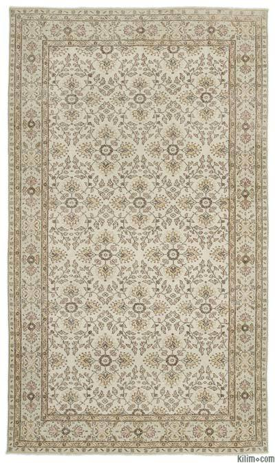 Turkish Vintage Area Rug - 6' x 10' (72 in. x 120 in.)