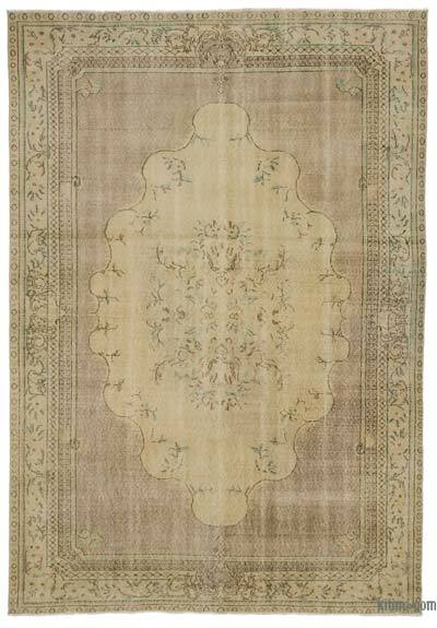 Turkish Vintage Area Rug - 6'9'' x 10' (81 in. x 120 in.)