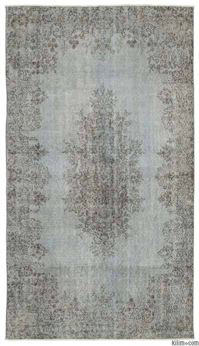 "Over-dyed Turkish Vintage Rug - 5'6"" x 9'6"" (66 in. x 114 in.)"