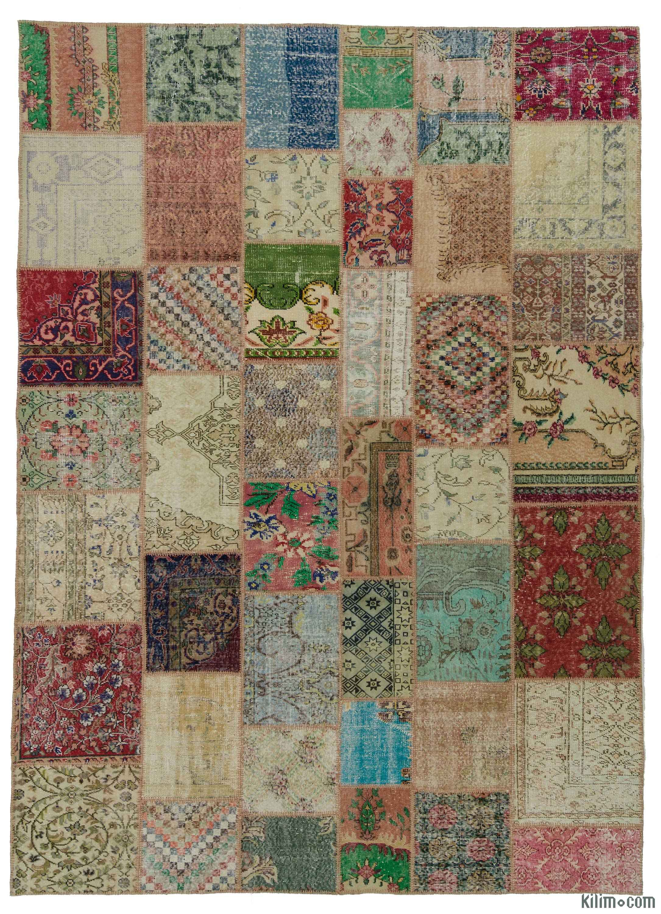K0018171 Multicolor Turkish Patchwork Rug 8 4 Quot X 11 7