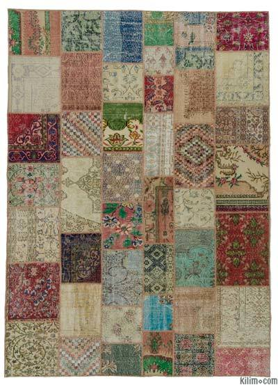 "Turkish Patchwork Rug - 8'4"" x 11'7"" (100 in. x 139 in.)"