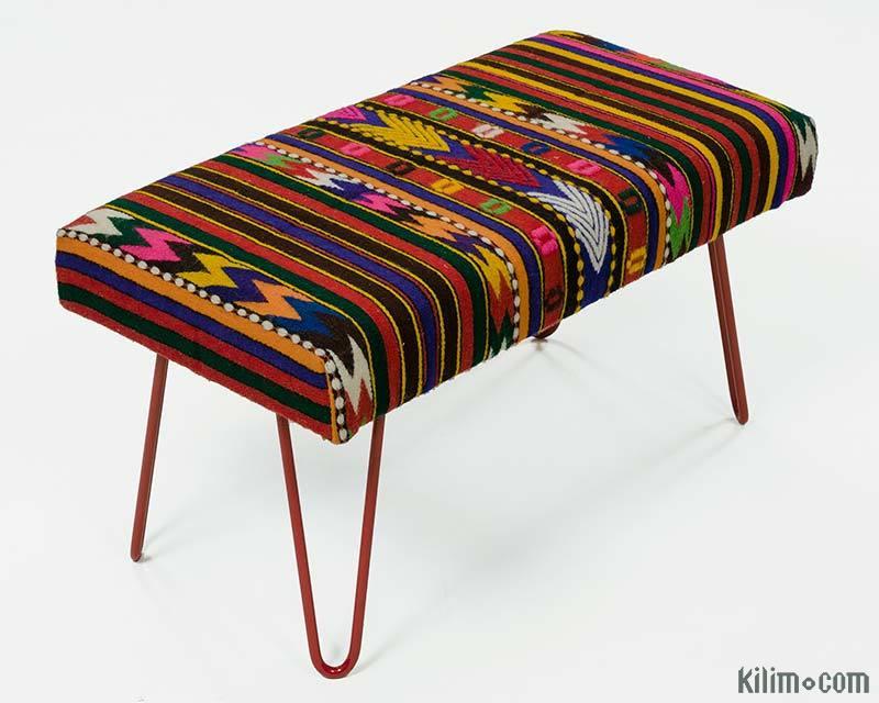 Herat Oriental Handmade Kilim Upholstered Bench (India ... |Kilim Ottoman Bench