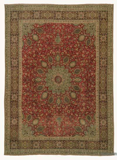 "Vintage Hand-knotted Oriental Rug - 9'2"" x 12'6"" (110 in. x 150 in.)"