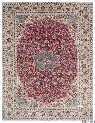 "Vintage Hand-knotted Oriental Rug - 10'1"" x 13' (121 in. x 156 in.)"