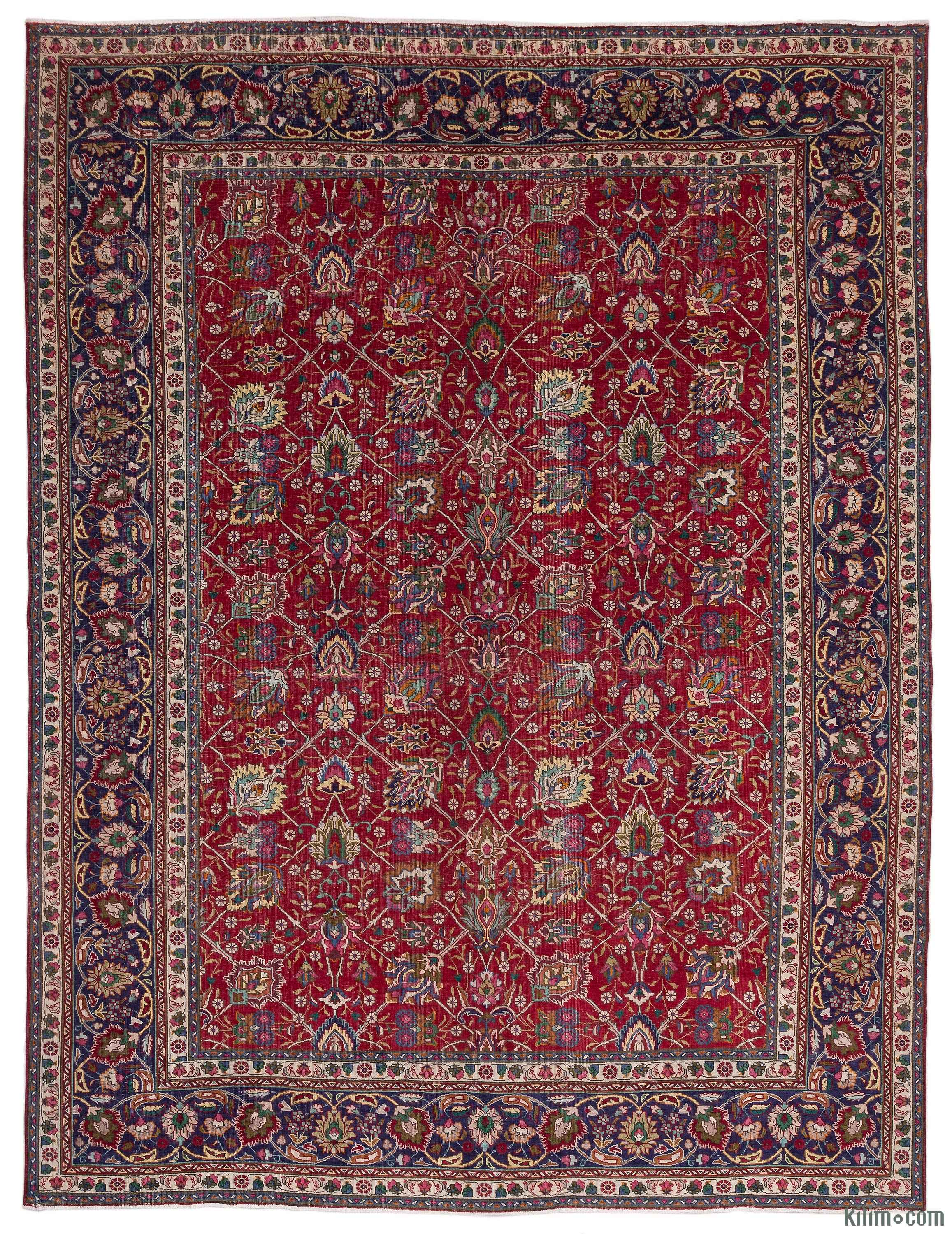 K0018301 Vintage Hand Knotted Oriental Rug 9 8 Quot X 12 10