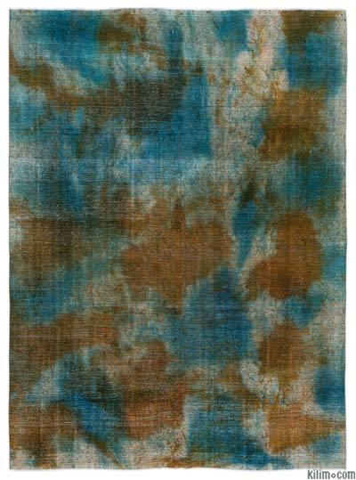 "Over-dyed Vintage Hand-knotted Oriental Rug - 9'2"" x 12'4"" (110 in. x 148 in.)"