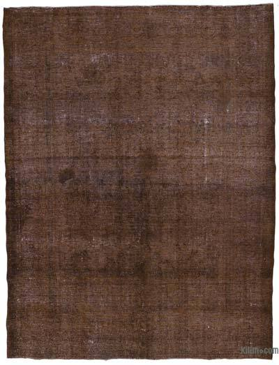 Brown Over-dyed Vintage Rug - 9'7'' x 12'10'' (115 in. x 154 in.)