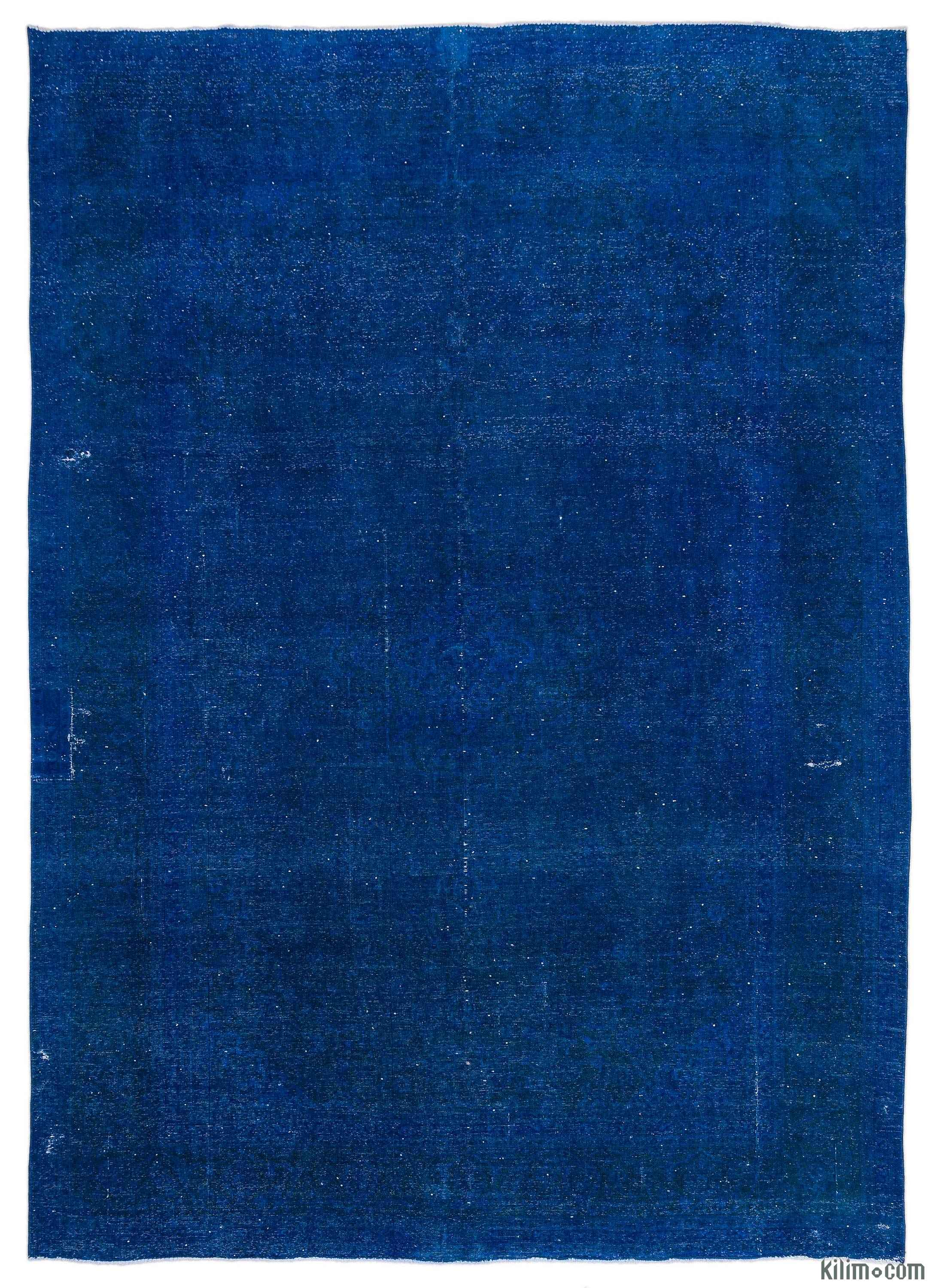 Blue Overdyed Rug Home Decor