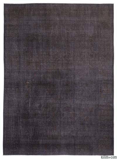 Grey Over-dyed Vintage Rug - 9'8'' x 12'10'' (116 in. x 154 in.)