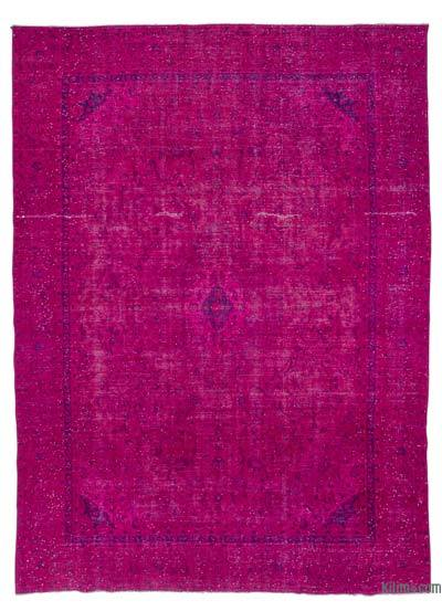 Pink Over-dyed Vintage Rug - 9' x 12'5'' (108 in. x 149 in.)