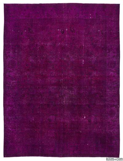 Fuchsia Over-dyed Vintage Rug - 9'8'' x 12'8'' (116 in. x 152 in.)