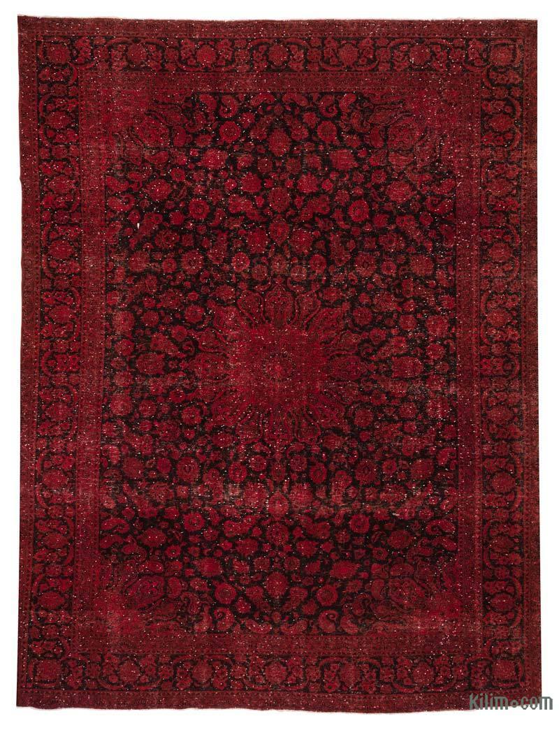 k0018539 red over dyed vintage rug 10 39 x 12 39 10 39 39 120 in x 154 in. Black Bedroom Furniture Sets. Home Design Ideas