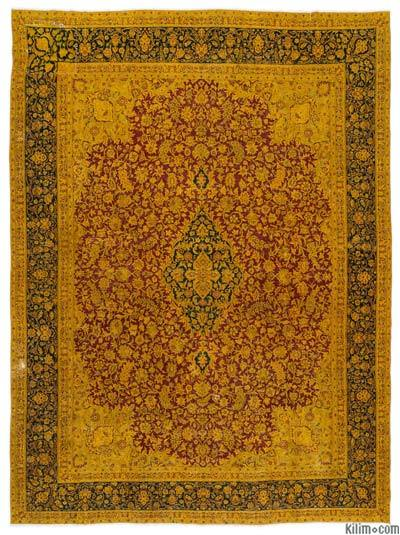 "Over-dyed Vintage Hand-knotted Oriental Rug - 9'4"" x 12'8"" (112 in. x 152 in.)"