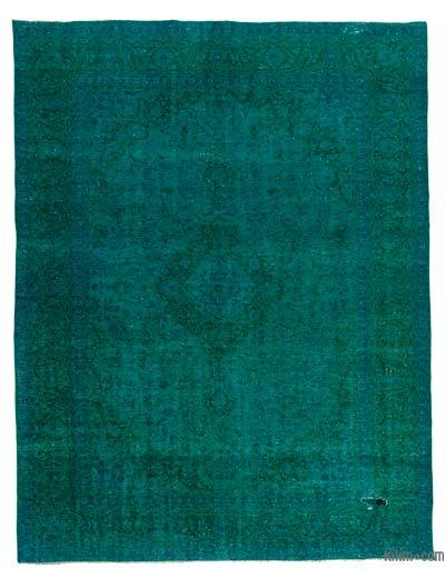 Turquoise Over-dyed Vintage Rug - 9'6'' x 12'3'' (114 in. x 147 in.)