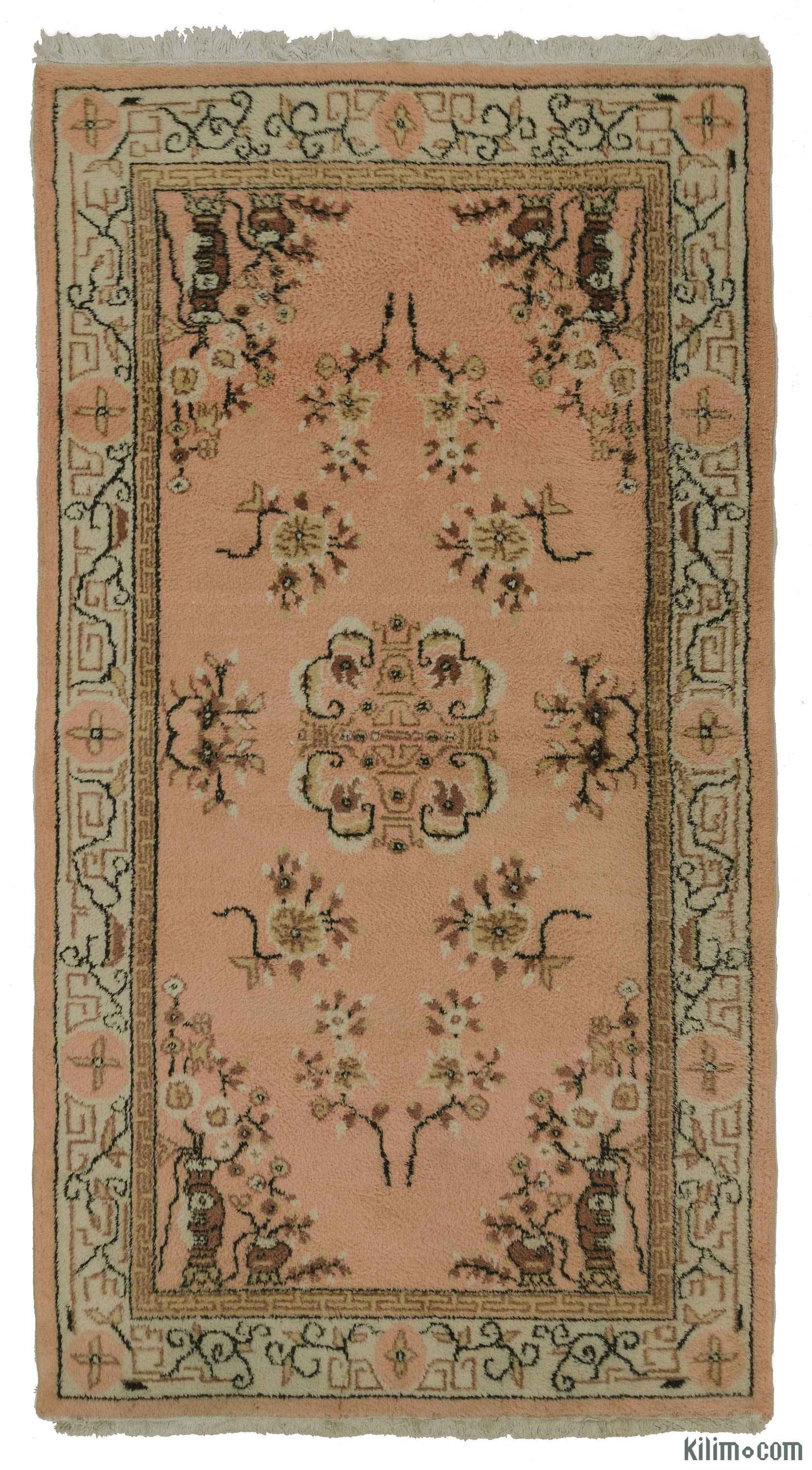K0018601 Pink Vintage Turkish Rug Kilim The Source For Authentic Rugs Kilims Overdyed Oriental Hand Woven