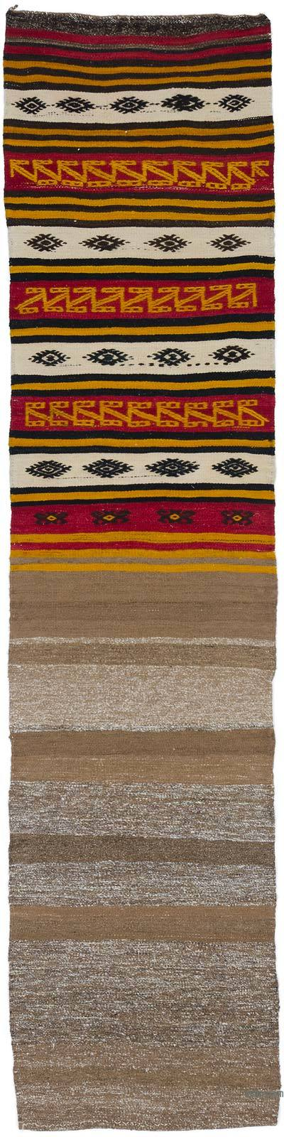 "Vintage Turkish Kilim Runner - 1'11"" x 8'1"" (23 in. x 97 in.)"
