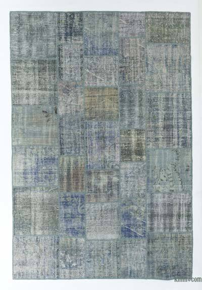 Over-dyed Turkish Patchwork Rug - 6'9'' x 10' (81 in. x 120 in.)