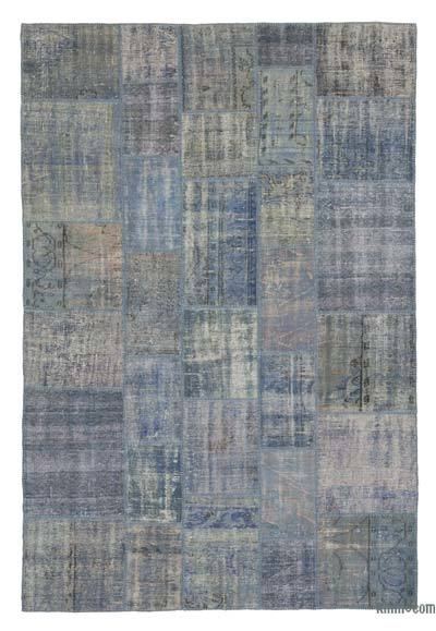 Over-dyed Turkish Patchwork Rug - 6'8'' x 10' (80 in. x 120 in.)