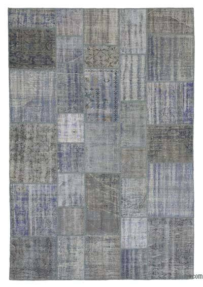 Over-dyed Turkish Patchwork Rug - 6'9'' x 9'11'' (81 in. x 119 in.)