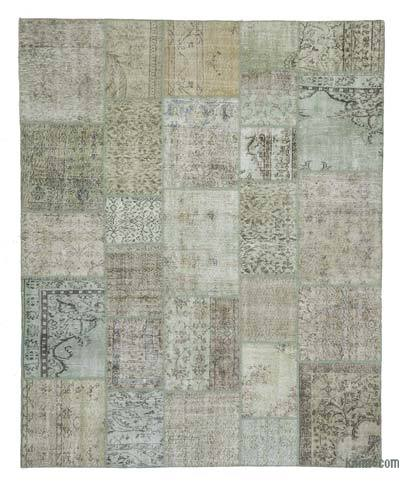 "Over-dyed Turkish Patchwork Rug - 8'3"" x 10'2"" (99 in. x 122 in.)"