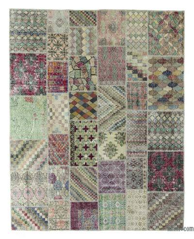 "Turkish Patchwork Rug - 7'10"" x 10' (94 in. x 120 in.)"