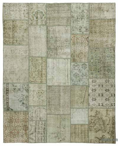 Over-dyed Turkish Patchwork Rug - 8'5'' x 10' (101 in. x 120 in.)