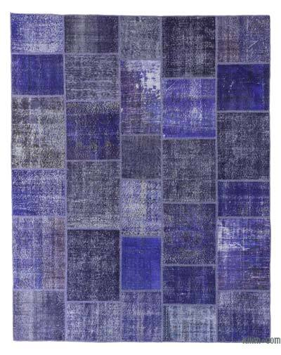 Over-dyed Turkish Patchwork Rug - 8'3'' x 10'4'' (99 in. x 124 in.)