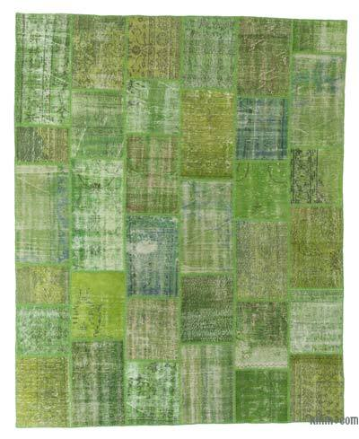 "Over-dyed Turkish Patchwork Rug - 7'11"" x 9'10"" (95 in. x 118 in.)"