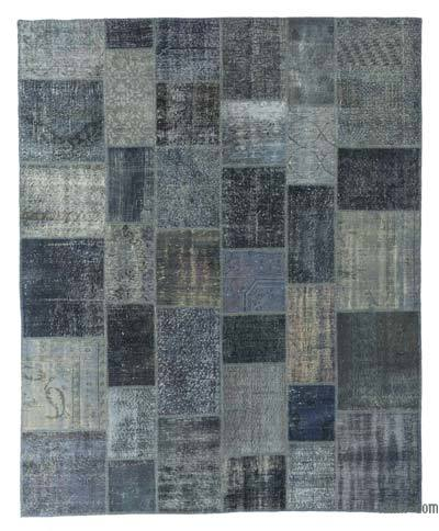 "Over-dyed Turkish Patchwork Rug - 8' x 9'10"" (96 in. x 118 in.)"