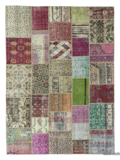 "Turkish Patchwork Rug - 8'4"" x 11'3"" (100 in. x 135 in.)"