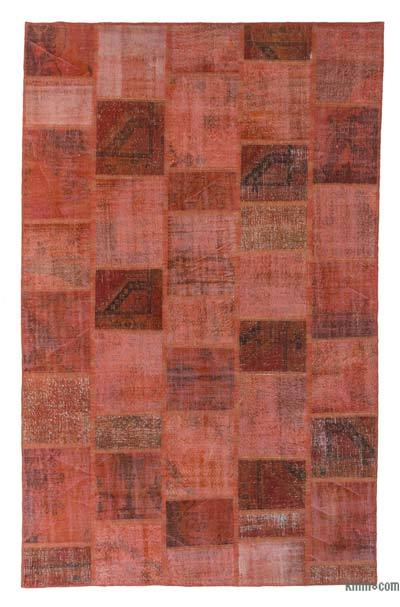 "Over-dyed Turkish Patchwork Rug - 7'11"" x 12'7"" (95 in. x 151 in.)"