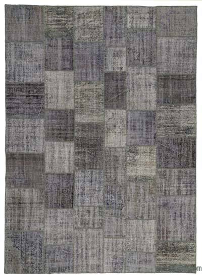 "Over-dyed Turkish Patchwork Rug - 8'2"" x 11'6"" (98 in. x 138 in.)"