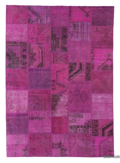 Over-dyed Turkish Patchwork Rug - 8'2'' x 11'5'' (98 in. x 137 in.)